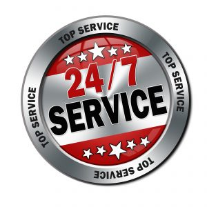 24/7 hot water service