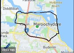 Maroochydore Map
